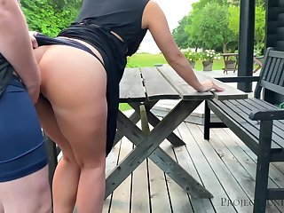Morning outdoor quickie with schoolgirl - projectsexdiary