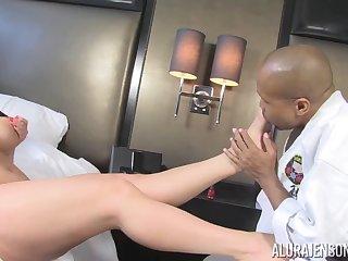 Alura Jenson leggy MILF interracial sex