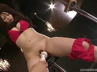 Perverse video of compelled up Nanami Hirose getting pleasured with toys