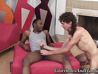 Nude gay lads provide rude interracial