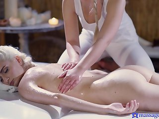 Lesbian pleasures on the massage table - Lovita Fate and Mia Casanova