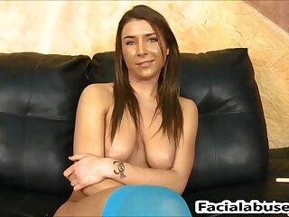 Felicity Feline hatch nailed roil hard at Facial Cumshot