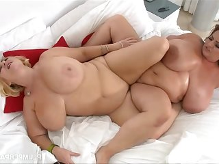Massaging Maria Moore - two beamy lesbians