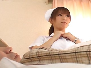 Trimmed pussy Japanese nurse Ai Sayama enjoys riding her the actuality
