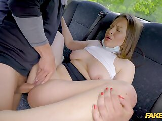 Mia Rose In 18 Year Old Teenager Surrounding Big Bristols Gets Driver To Jizz 4 Times In A Quarrel