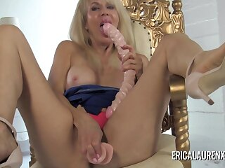 Big Bust Gilt Mature Plays With Her Toys - Erica Lauren