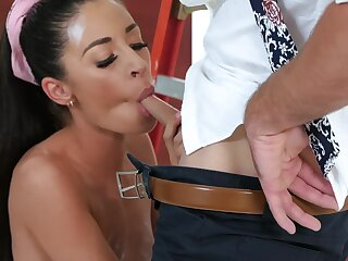 Latina side fucked and covered in sperm