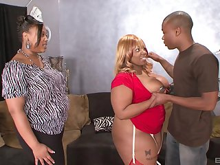 Shameless ebony with broad in the beam ass, crazy home BBW anal with the son