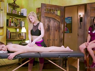 Lesbian trio forth the massage parlor HD porn video featuring famous porn stars