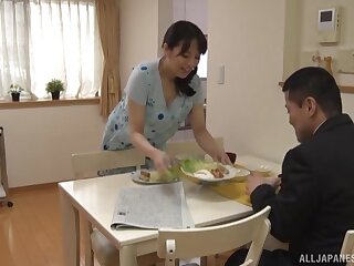 Stunning babe Mishima Natsuko loves playing with his abiding dick