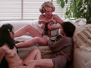 Hot MILFs up beamy melons in retro porn film over