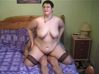 Horny MILF Bernie likes to ride a bushwa while her boobs bounce
