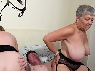 AgedLovE Two Busty British Matures Fuck Duo Dick
