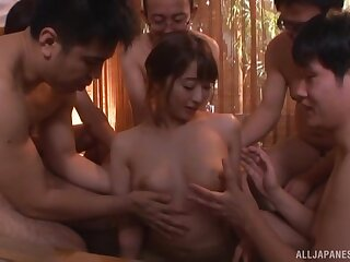 Ill at ease Japanese wife tries her luck with several lovers