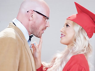 Gorgeous graduate gets power-fucked by her professor