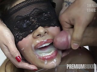 Premium Bukkake - Victoria swallows 81 big mouthful cumloads