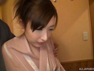 Sakaguchi Rena forced into hardcore cock sucking and riding