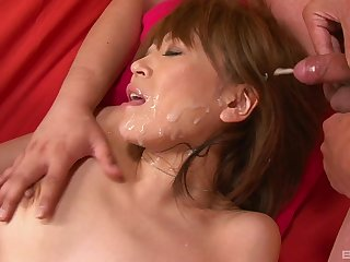 Jun Kusanagi gets her pussy toyed with and her face cum covered