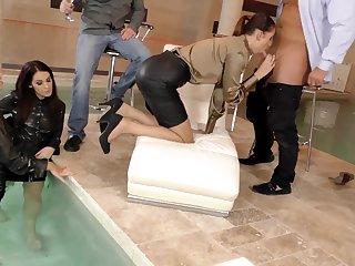 Hardcore glamour porn star orgy with Bella Bereta and Coco Del Mal