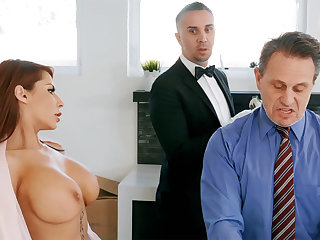 Horny government worker is ready back anal fuck housewife