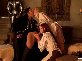 Medieval maid, Carla Cox had a threesome rub-down the ot