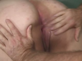 An old fart fulfills his goal to be thrilled by involving a big bottomed BBW slut