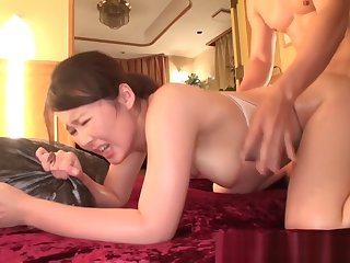 Naho Yuumi busty Asian babe in undiluted lingerie gets facial