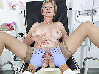 hairy 71 years venerable mom pov fucked by her doctor
