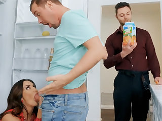 Wife's big jugs seduced nanny to fuck hardcore