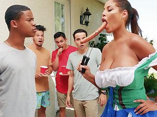 Hardest Oktoberfest group sex be proper of drunk wife