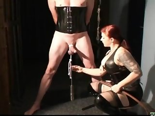 Playful Lint CBT femdom porn