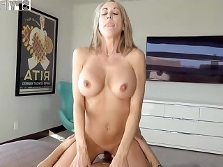 Plowing a big-titted platinum-blonde step- mom senses finer than milking elsewhere while seeing VR porno