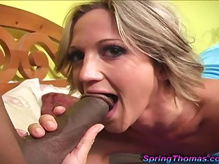 Bolt Thomas moans with pleasure while a sensual black dick fucks her