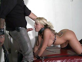 Unshakably sexy bondage fuck be incumbent on gorgeous submissive blonde