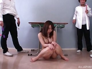 Japanese darling Hachino Tsubasa pleasured with a lot be advantageous to sex toys