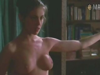 Fit nude celebrity star Alyssa Milano flashing her paradigm tits