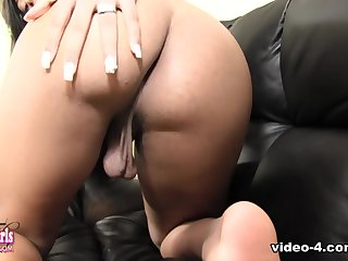 Skylar White in Skylar White Cums For You - BlackTGirls