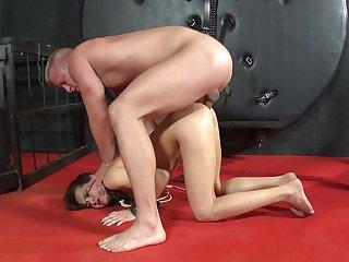 Amateur anal sex during harsh BDSM be advantageous to the petite angel