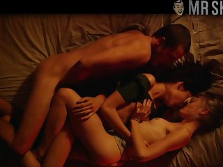 Really explicit nude scenes with hot real actress Aomi Muyock