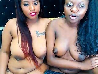 Ebony Lesbian Vibrator Fucking Other Lesbian Lasting