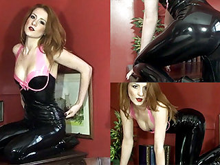 Scarlot Rose near Lowering Top and Lowering Leggings - LatexHeavenVideo
