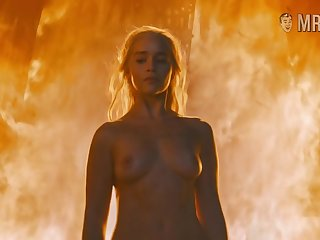 Hot blonde girl Emilia Clarke is on fire in all the meanings of this word